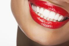 White teeth, bright smile