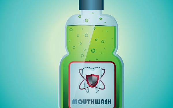 Mouthwash, bottle